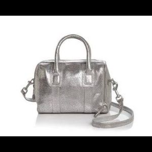02c8947a76c4 Halston Heritage Jerry Satchel Silver Leather